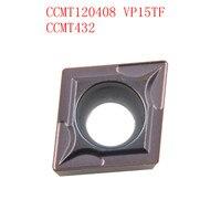 cnc cnc חותך 20PCS CCMT120408 / CCMT432 VP15TF / UE6020 CNC להב פלדה אל חלד חותך טונגסטן קרביד מחרטה R0.8 חותך (2)