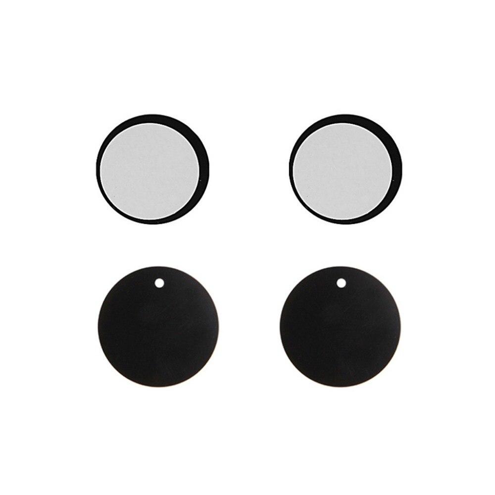 4x круглый прямоугольный металлический Таблички Стикеры липкой специально используется для магнитных автомобильный держатель телефона ак…