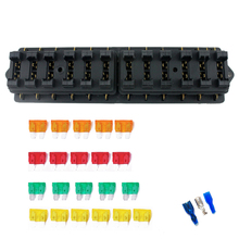 Universal Car Truck Vehicle 12 Way Circuit Automotive Middle-size Blade Fuse Box Block Holder