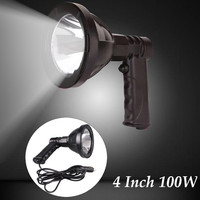 4 Inch 100W Automoblies Searchlight LED Projector Lamps Handheld Hunting light Fishing Outdoor Camping Lighting work lights
