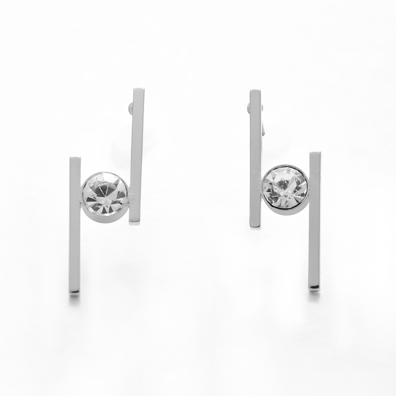 New Fashion Small Geometric Stud Earrings Women High Quality Rhinestones Gold Color Minimalist Earrings Charm Jewelry Brinco