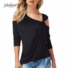 womens strapless t-shirt casual top summer ladies plain shoulder hollow out tee shirts european style clothes tops shirt