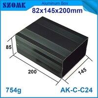 طول الألومنيوم صندوق إلكتروني 82*145*200 ملليمتر الألومنيوم حالة diy علبة نقطة اتصال كهربائية