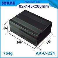 ความยาวอลูมิเนียมตู้อิเล็กทรอนิกส์82*145*200มิลลิเมตรอลูมิเนียมกรณีdiyกล่องแยกไฟฟ้า