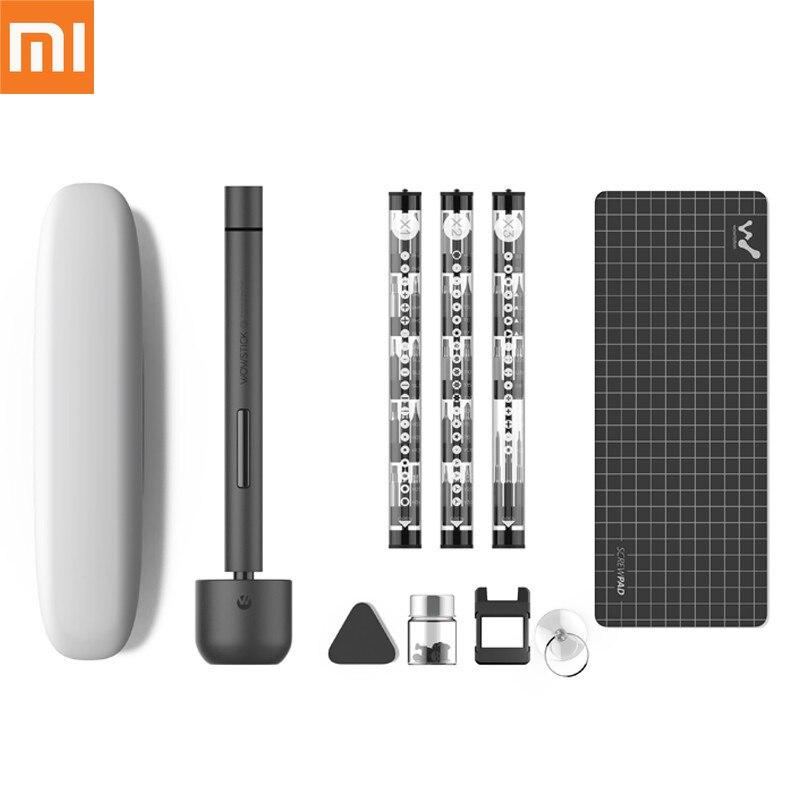 Xiao mi Original mi jia Wowstick 1F + 64 en 1 tournevis électrique mi sans fil Lithium-ion Charge alimentation LED kit tournevis