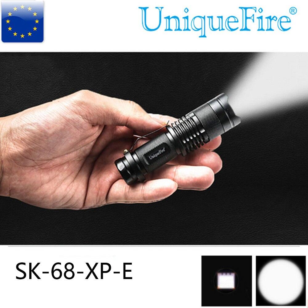 Mini kapesní svítilna UniqueFire 5W Výkonný UF-SK68 XP-E LED 240 lumen 3 režim provozní zoom pro tábor