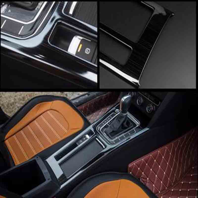 Stainless steel Automobile gear sequins cover panel decoration For VW Volkswagen Passat B8 Sedan Variant Alltrack 2015 2016 2016 stainless steel car styling front cup holder panel sequins for buick regal 2009 2016 car accessories decoration sequins