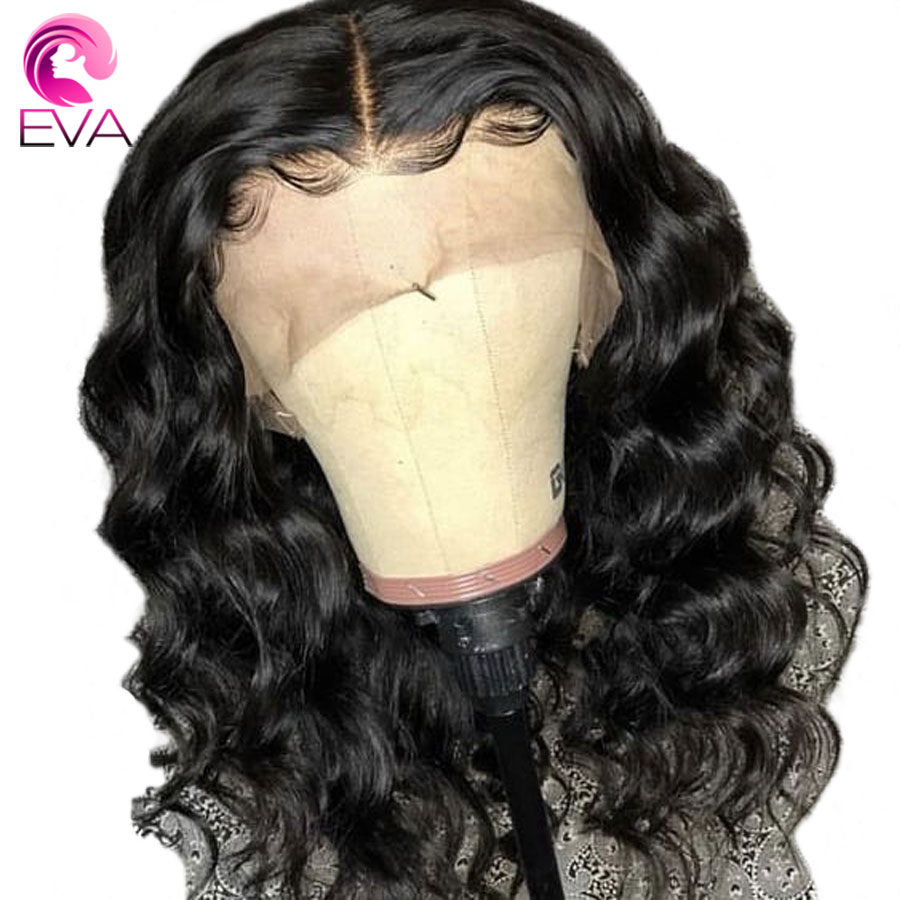 Eva 360 Lace Frontal Wig Pre Plucked With Baby Hair Glueless Body Wave Lace Front Human Hair Wigs For Black Women Brazilian Remy