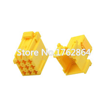 10 Sets 9 Pin yellow terminal block connector   with terminal DJ7092A-3.5-11 / 21 9P car harness connector ring terminal yellow brazed12 to 10 pk5