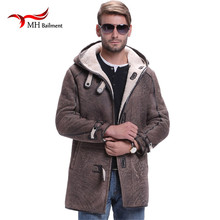 Men Leather Jacket With Fur Collar Man On The New Winter Thickening Leather Jacket Men Mens Fur Coat Winter Leather Jacket A#26