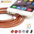Bastec original super fuerte de cuero tapón de metal 20 cm/100 cm micro usb cable para iphone 6 6 s plus 5s 5/samsung galaxy s6 etc