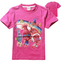 Cotton short sleeve children t shirts,cute cartoon Trolls,girls figure kids wear summer clothes for baby girls clothes