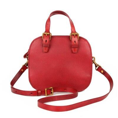 Femmes mignon en cuir véritable petit fourre-tout sac à main femme nouveauté vintage un sac à bandoulière été vert marron messenger sac à bandoulière - 5