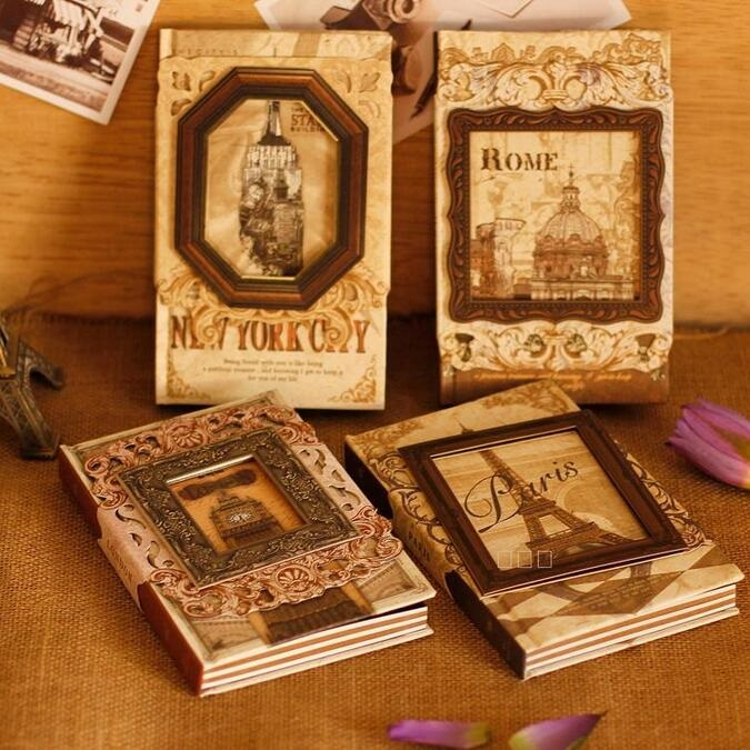 NEW Vintage Memory Frame Craft Notebook Hand Cover Kraft