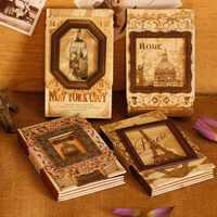 New Vintage Cornice di Memoria Mestiere Notebook Copertura Della Mano Kraft Libro Fai da Te Journal Block-Notes Agenda Zakka Ufficio Scuola Fornitore di Vendita Al Dettaglio