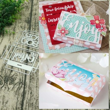 Gift box Metal Cutting Dies New 2018 Craft Stamps die Cut Embossing Card Making Stencil Frame craft
