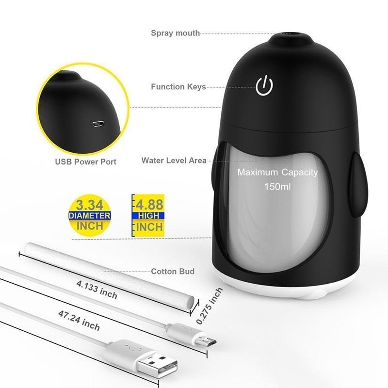 Նոր LED USB խոնավացուցիչ մինի բույրով - Կենցաղային տեխնիկա - Լուսանկար 4