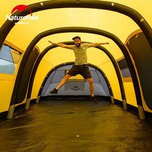Image 4 - Naturehike Wormgat Serie Camping Tent 3 8 Personen Familie Tent Ademend Waterdicht Opblaasbare Tent Outdoor Reizen Tent