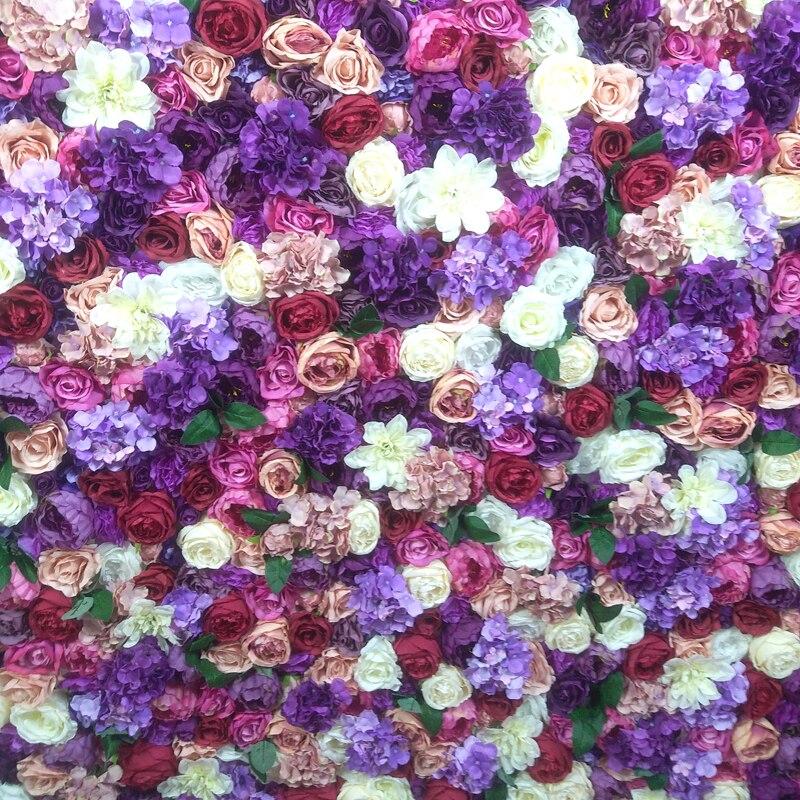 SPR закатать цветок из текстиля стены 4ft * 8ft Искусственный Свадебный случай фон цветочный орнамент украшения Бесплатная доставка - 6