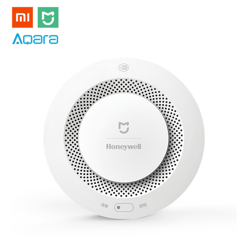 Xiaomi MIJIA Honey well Aqara Smoke & Gas Alarm Detector Fire Protection Remote Alert Smart Home Kit for Mi Hone APP Gateway