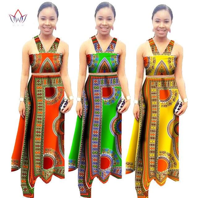 16e12ea130036 African New Summer Women Dress Custom Strapless Crop Tops   Long Skirts  Women Set African Print