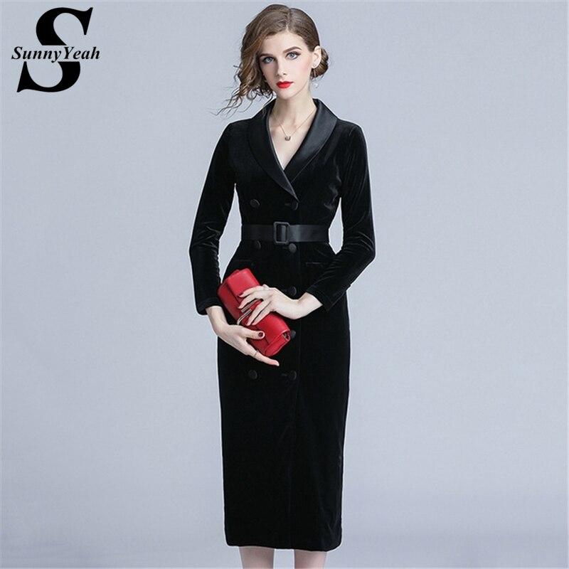 a00c5c3a074 Parti Moulante Casual De Noir Midi Élégant Robes Dames Féminine Black Rouge  Sunnyyeah Manches Femmes Longues Robe ...