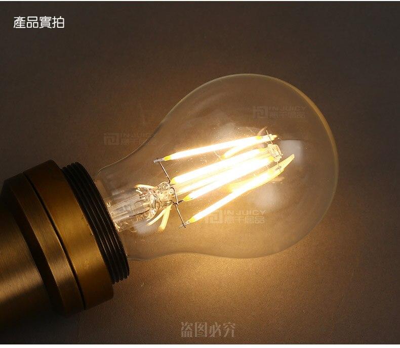 A19 Led Filament Bulb Nostalgic Edison Style 4w To Replace: A19 4PCS/LOT Vintage Retro LED 4W E27 Filament Light Bulb