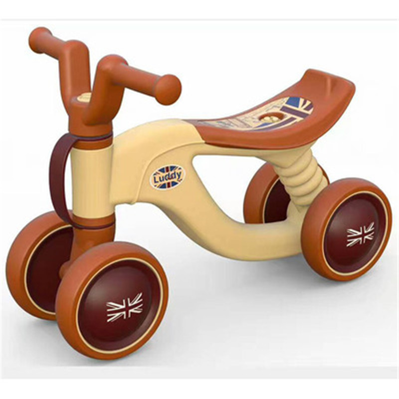 3 Colour Children Baby Swing Car Four Rounds No Pedals Balance Bike Mute Wheel D-bike Exercise Your Baby's Balance G1522 children baby swing car three round no pedals balance bike mute wheel skid resistance exercise your baby s balance g1521