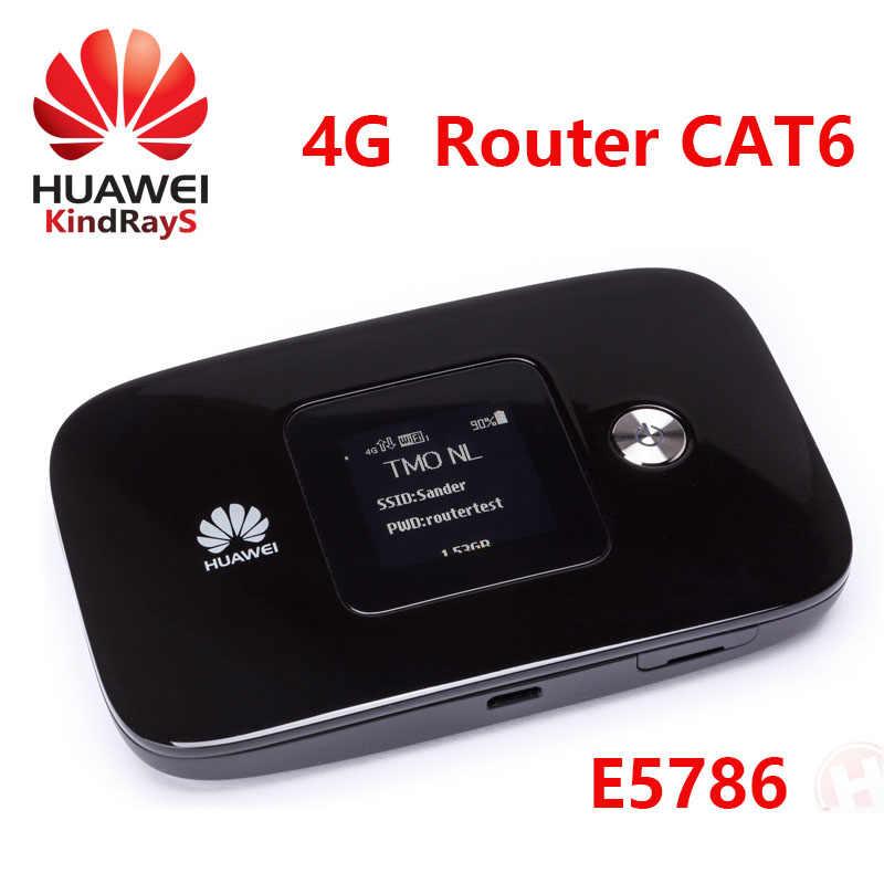 مقفلة هواوي e5786s-32a 4g موزع إنترنت واي فاي e5786 LTE Cat6 300Mbps 4g MiFi راوتر دونغل 4g جيب Wifi دونغل