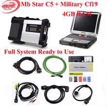Newest V2017.07 SSD MB Star C5 Star Diagnosis with Laptop CF19 Xentry/Vediamo for Mb Star C5 Diagnostic Tool