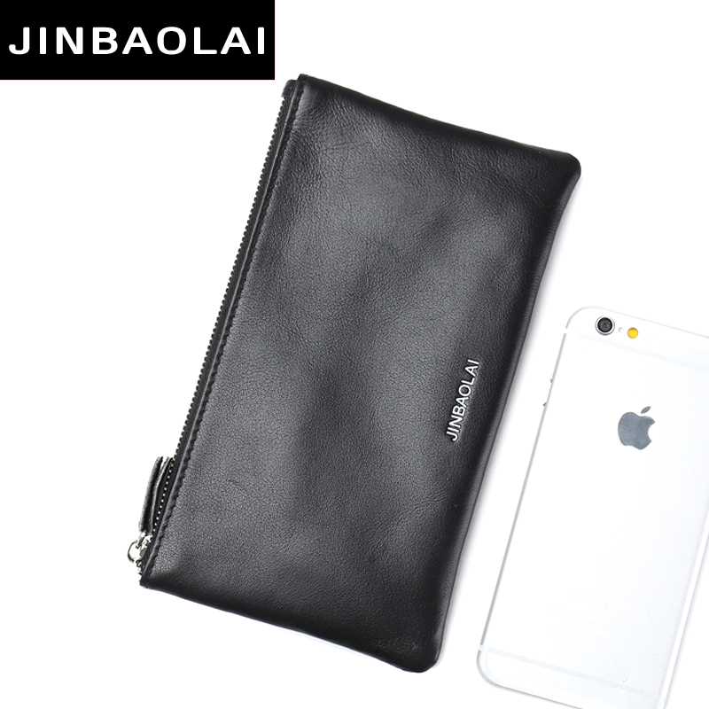 Genuine Leather Men Clutch Wallet Brand Male Card Holder Long Zipper Around Travel Purse With Passport Holder Wallet thinkthendo new male genuine cow leather wallet card package retro woven passport business cards holder