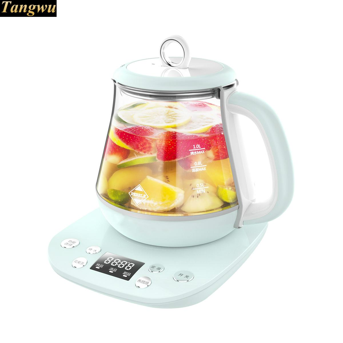 Multi-function miniature health pot full automatic flower fruit tea boiling water and medicine health raising pot and thick glass health medicine
