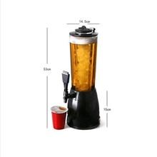 2.5L Ice Frozen Beverage Machine Cool Beer Drinking Fountains Wine Beverage Machine Bartender Gadget Cylinder Kitchen Tool