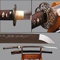 Afiada Samurai Iaido Katana Dobrado Aço Temperado Barro Samurai Japonês Espada Cosplay Espadas Faca Estilo Japonês Decoração