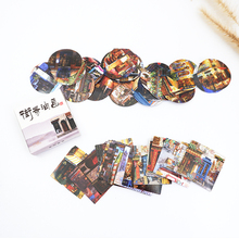40pcs/lot Creative streetscape painting paper sticker Decoration DIY Scrapbooking Sticker kawaii diary label sealing stickers 46pcs lot cuddly mushroom mini paper sticker decoration diy scrapbooking sticker kawaii diary label sealing stickers