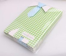 20 pcs My Little Man Blue / Green Bow Tie Birthday Boy gift Bags
