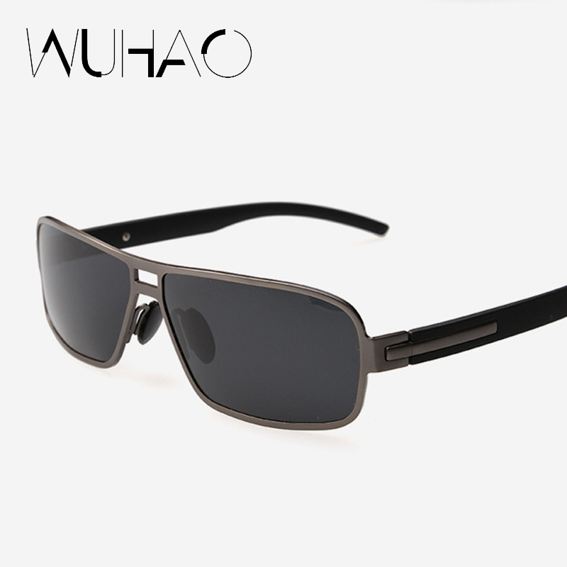 fashion polarized sunglasses men 2016 brand designer sun glasses for male metal frame safety driving eyewear