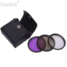 лучшая цена 49mm 52mm 55mm 58mm 62mm 67mm 72mm 77mm FLD UV CPL Filter 3in1 Lens Filter Kit With Bag For Sony Pentax Nikon Canon Camera Lens
