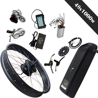 Free shipping 48V 1000W Electric Bike Kit for 20'26'*4.0 Bicycle Wheel Rear Hub Wheel Motor Powerful Fat Tire Bicycle Snow Bike