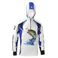 جديد في قمصان طويلة الأكمام قمصان uv حماية الملابس camisa دي pesca الصيد الملابس أداء للصيد سريعة الجافة