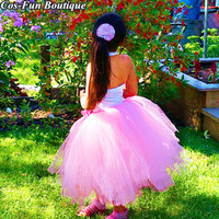 Princess Tutu Long Poofy Pink Tutu Kids Girl Skirt Winter Birthday Party Skirt For Baby Girl Christmas New Year Outfits 2018