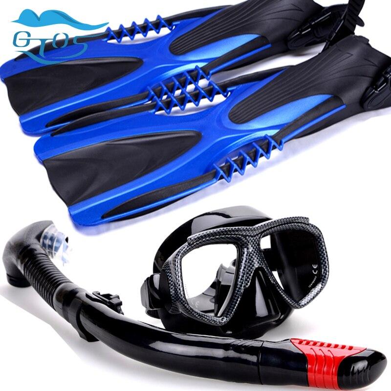 Scuba Diving equipment package set snorkeling kit junior 3pcs Of Mask Snorkel And Fins Snorkelling 40