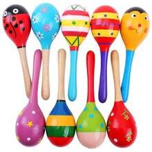 Новинка, хит, красочные деревянные маракасы, детские музыкальные инструменты, погремушка, шейкер, вечерние игрушки
