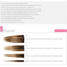 Clips In Human Hair Extensions Full Head Set