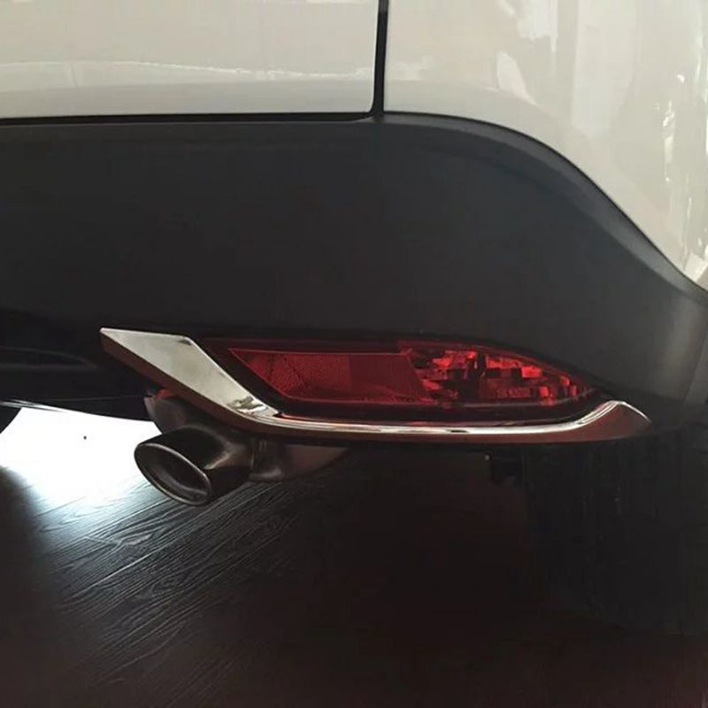 MONTFORD ABS Chrome Rear Fog Lamp Strips Tail Lights Covers <font><b>Trim</b></font> Frame Decoration 2Pcs For <font><b>Honda</b></font> <font><b>HRV</b></font> HR-V Vezel 2014 2015 2016 image