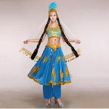 Xinjiang Turpan minority dance costumes Chinese folk dance wear ethnic
