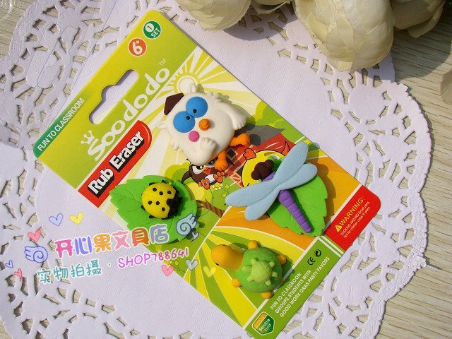 free shipping Wholesale 10set/lotSouth Korean Rubber / Rubber Food / Simulation rubber/The simulation owl rubber