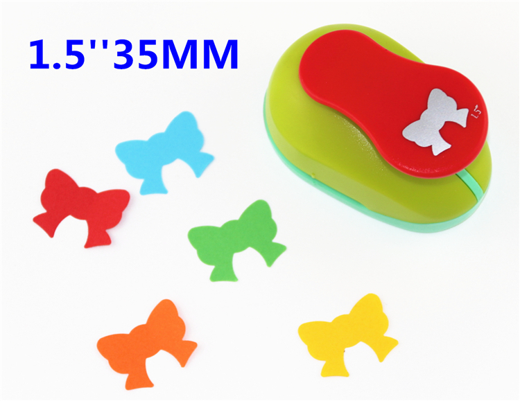 Free Shipping Bow 1.5'' (37mm) Scrapbooking Punches Hole Punch Scrapbook Paper Cutter  Child Craft Tool Embosser Kid Toy S2936-5