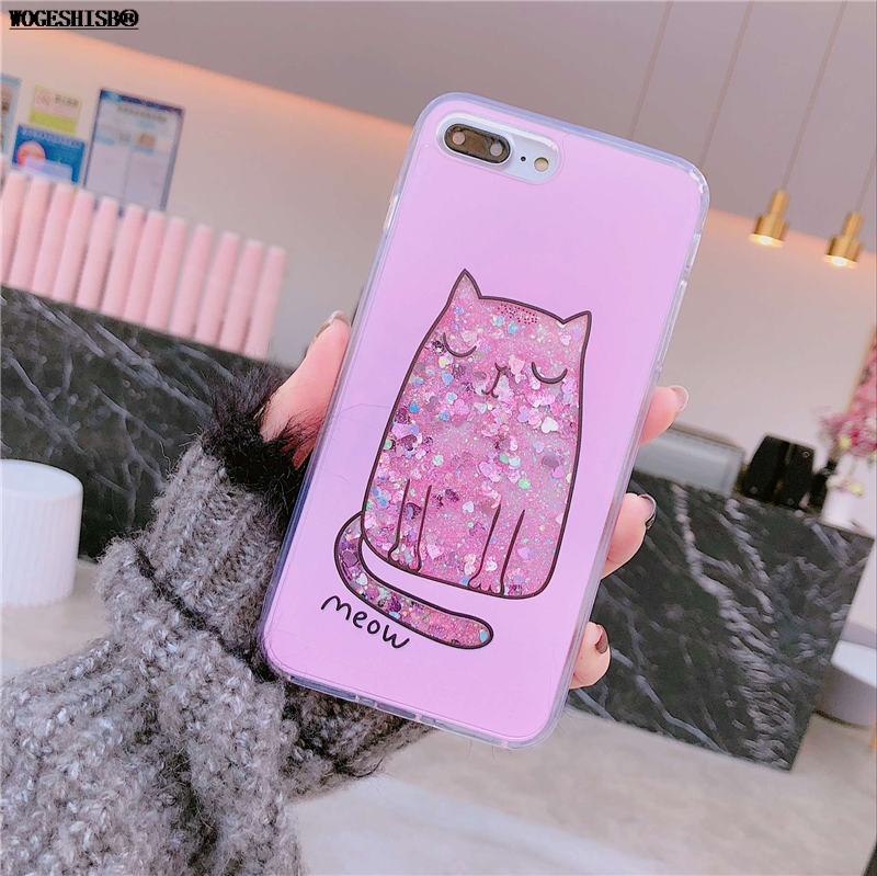 Liquid case for iphone x unicorn water bottle ice cream pink panther liquid case for iphone x unicorn water bottle ice cream pink panther flowers cat tpu bling cover for iphone 6 6s 7 8 plus mightylinksfo