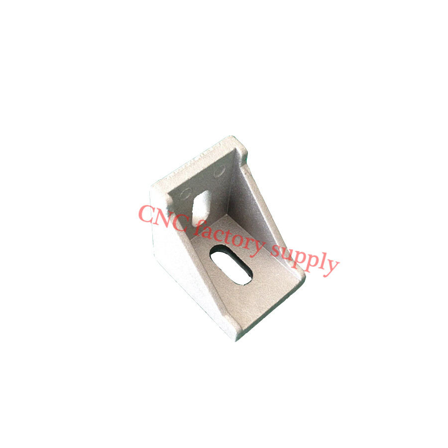 HOTSale 3030 corner fitting angle aluminum connector bracket fastener 20/30/40/45/60/80 series industrial aluminum profile 20pcs 4040 corner fitting angle aluminum 40 x 40 x 35mm connector bracket fastener match 4040 industrial aluminum profile